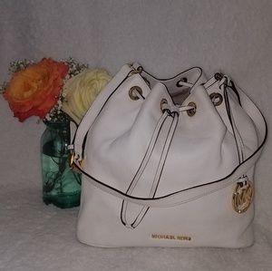 Michael Kors white leather bag